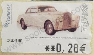 Sello España 2004 ATM – Rolls Royce 1947