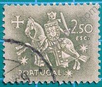 Sellos Portugal 1953 Rey Dionisio 2,50 $ Escudos