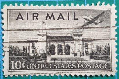 Sello Estados Unidos 1947 Edificio Unión Panamericana