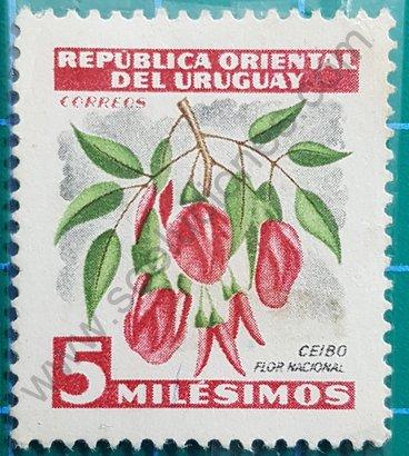 Sello Uruguay 1954 Ceibo - Flor nacional