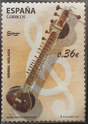 Sello España 2012 Sitar