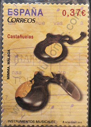 Sello España 2013 Castañuelas