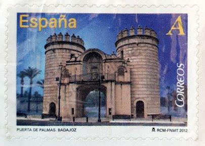 Sello España 2012 Puerta de Palmas Badajoz