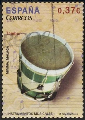 Sello España 2013 El Tambor