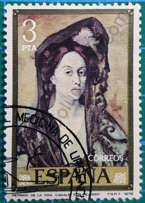 Sello Retrato de Señora Canals - España 1978
