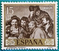 Sello Los Borrachos de Velázquez - España 1959
