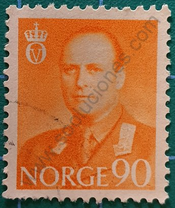 Sello Noruega 1959 Rey Olav V - 90 øre Noruego