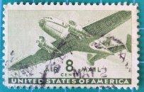 Sello Estados Unidos 1944 Avión bimotor - 8c
