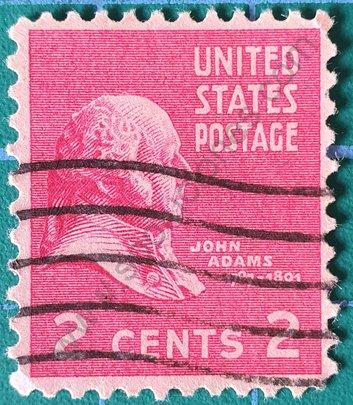 Sello John Adams - Estados Unidos 1938