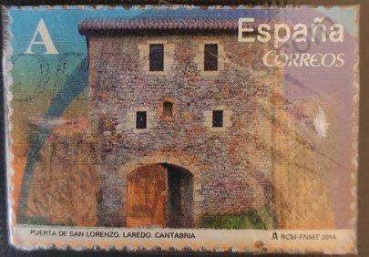 Sello Puerta de San Lorenzo - España 2014