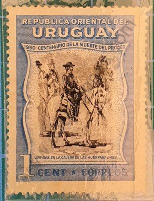 Artigas en la Calera de las Huérfanas - Sello Uruguay 1952