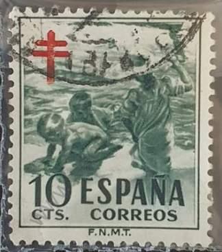 Sello de España 1951 Pro-Tuberculosis 10cts