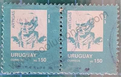 URUGUAY 22 de Junio de 1990 ficha de sellos para descargary/o imprimir