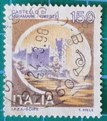 Castillo Miramare Trieste - Sello Italia 1980