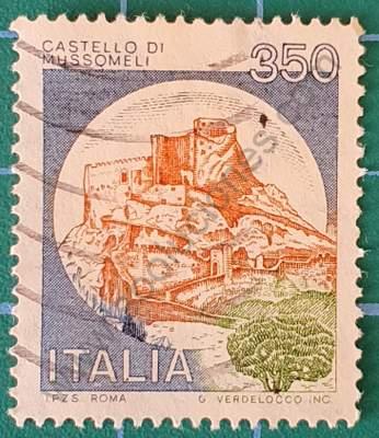 Castillo Di Mussomeli - Sello de Italia 1980