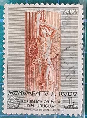 URUGUAY 30 de Enero de 1948 ficha de sellos para descargary/o imprimir