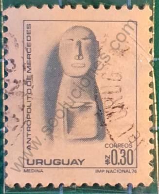 URUGUAY 30 de Octubre de 1976 ficha de sellos para descargary/o imprimir