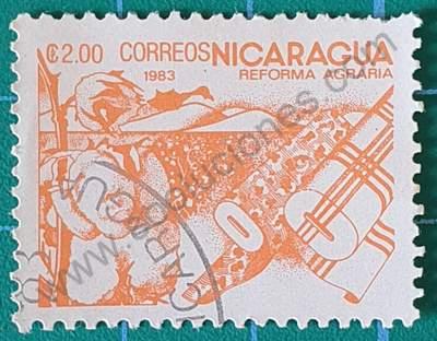 Sello sobre el algodón - Nicaragua 1983 2 C$