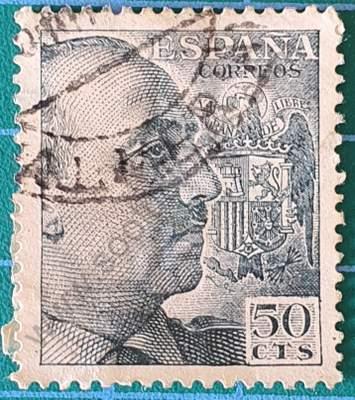 Sello de España 1949 50cts – Francisco Franco