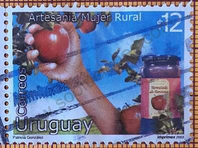 Sello Mermelada de Manzanas - Uruguay 2003