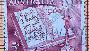 Sello Australia Navidad 1960