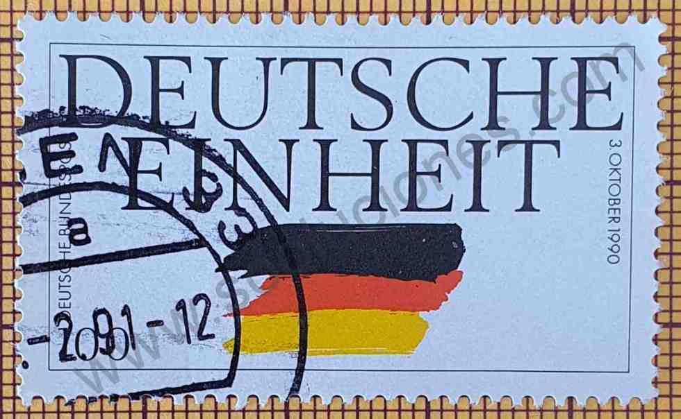 Sello de Reunificación de Alemania 100Pf año 1990