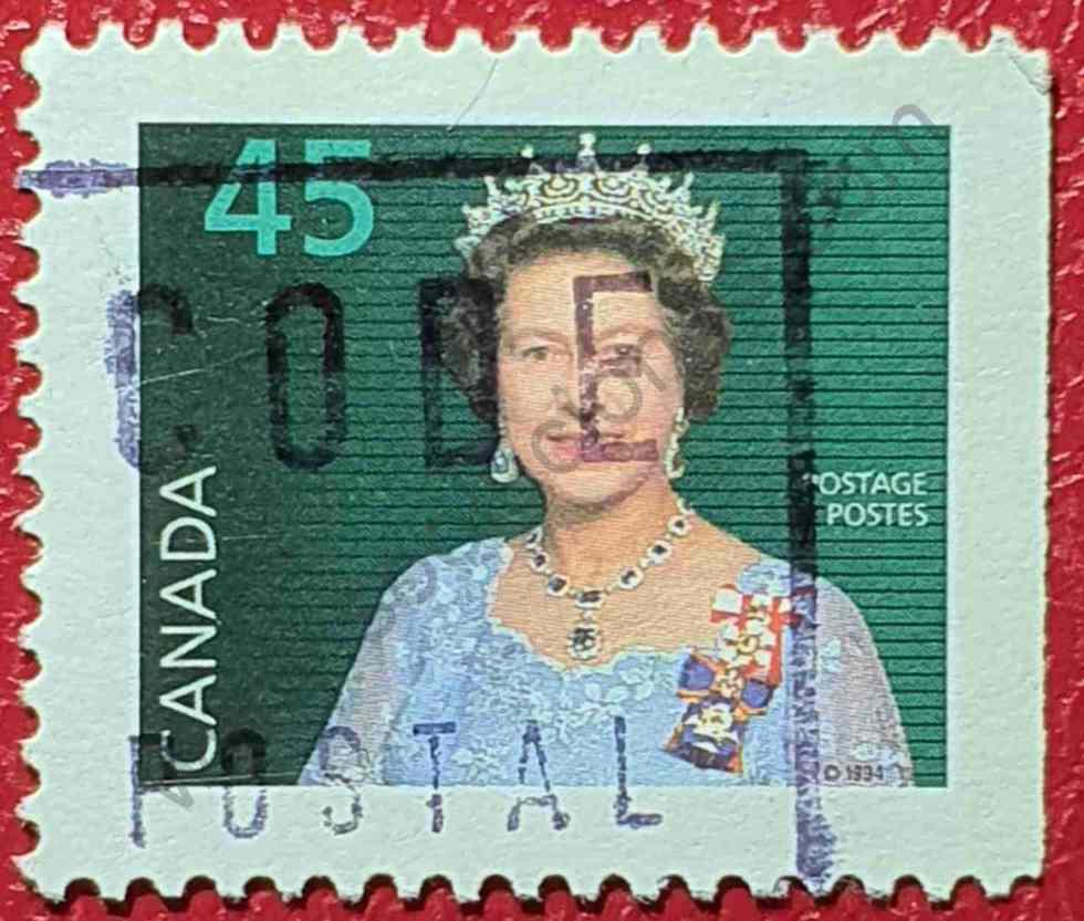 Elizabeth II 45¢ - Sello Canadá año 1995