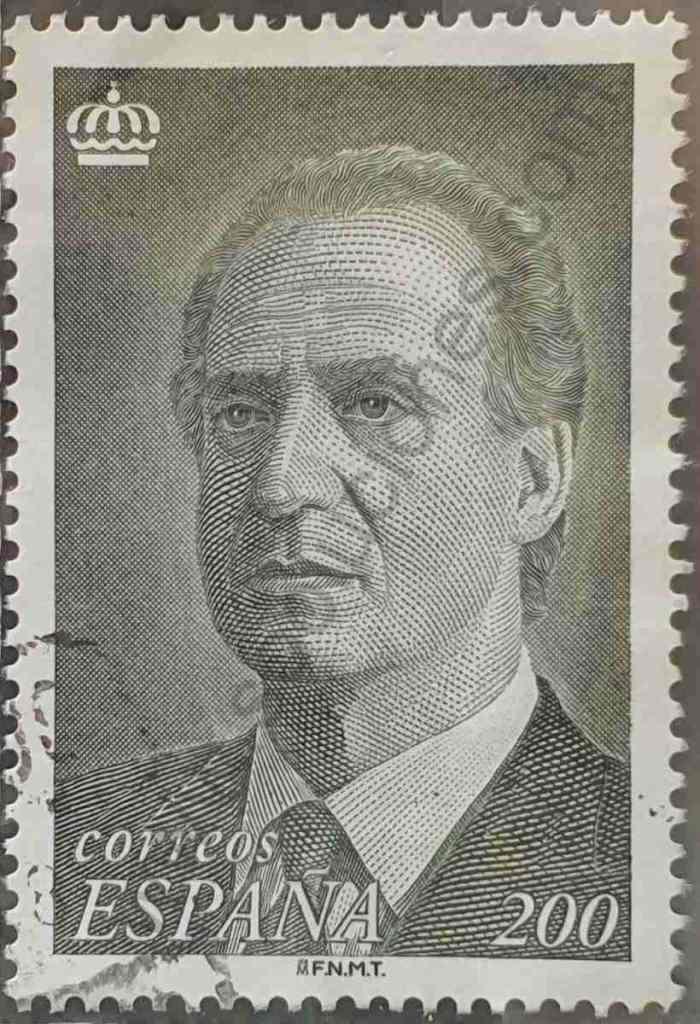 Sello 200 ptas Rey Juan Carlos - España 1996
