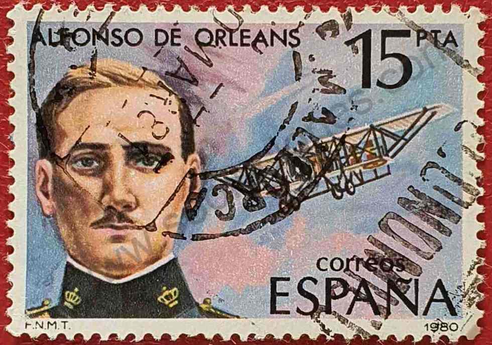 Sello Alfonso de Orleans - España 1980