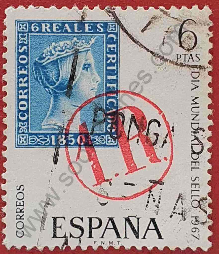 Sello matasellos 1R - España 1967