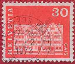 Sello Casas de Gais - Suiza 1968