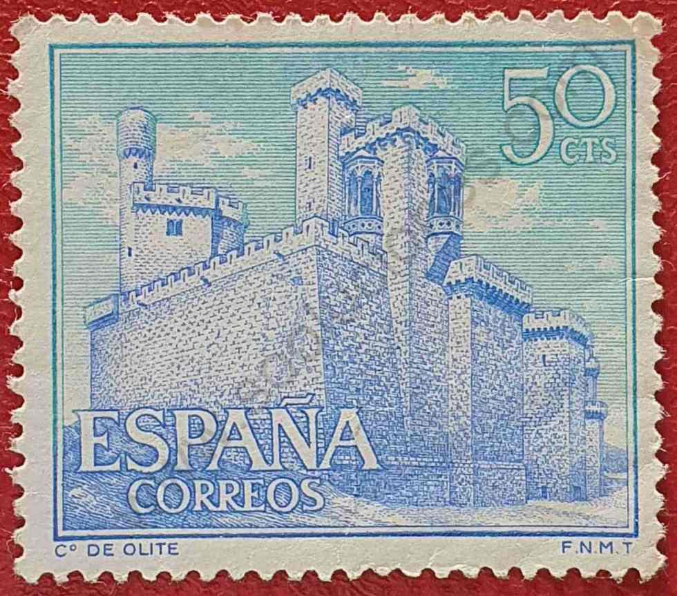 Sello Castillo de Olite - España 1966