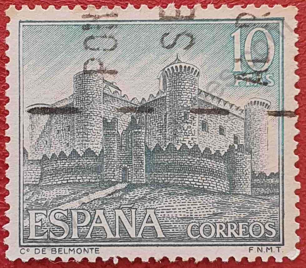 Sello Castillo Belmonte - España 1967