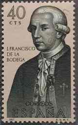 Juan Francisco de la Bodega - Sello España 1967