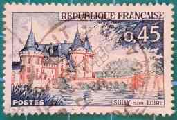 Sully sur Loire - Sello Francia 1961