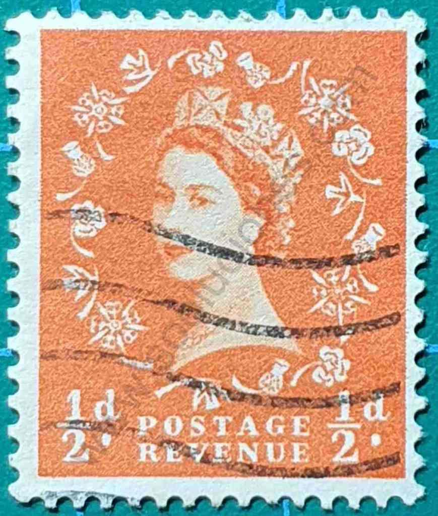 Elizabeth II 1/2d - Sello Reino Unido 1961