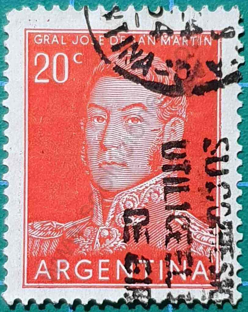 San Martín - Sello Argentina 1955