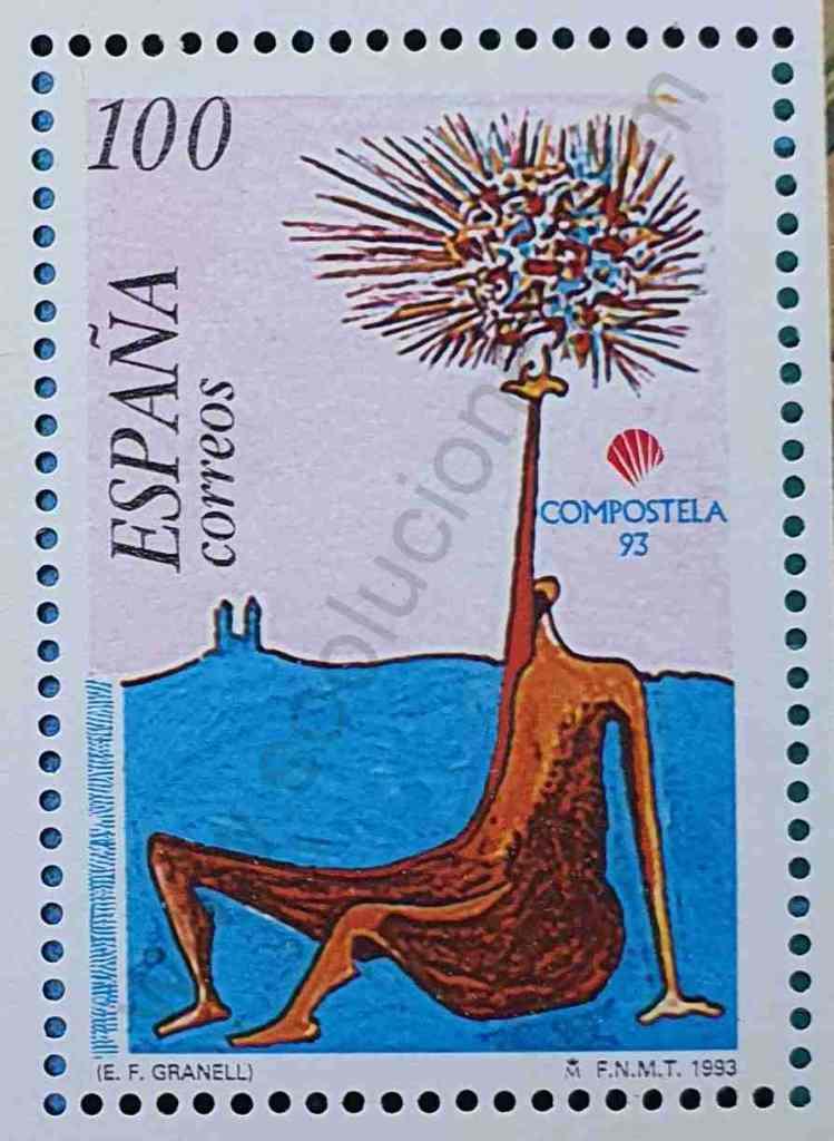 Figura Sentada Sello - España 1993
