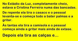 Cristina Ferreira foi ver um jogo ao Estádio da Luz