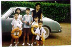 In the picture, Sam Rainsy is the youngest son in this family photo. Photo courtesy of Sam Rainsy Page on Facebook.