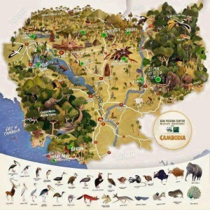 Map for Cambodia Land Scape