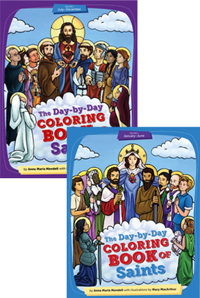 Day-by-Day Coloring Book of Saints Set book cover