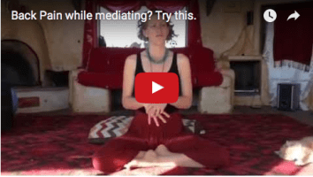 Back Pain While Meditating