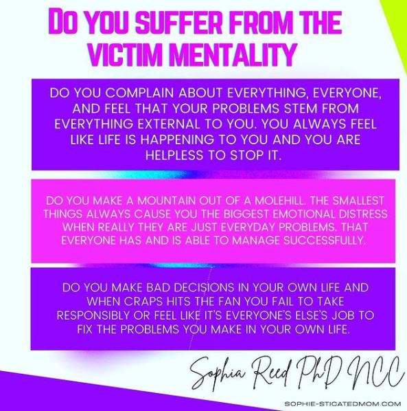 victime mentality quote