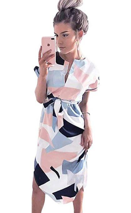 geo pic dress