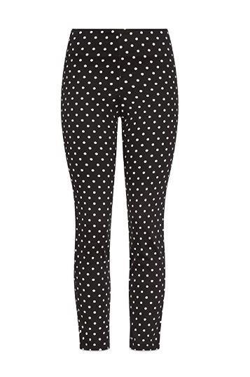 black pants white dots