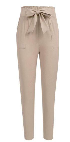 cream work pants