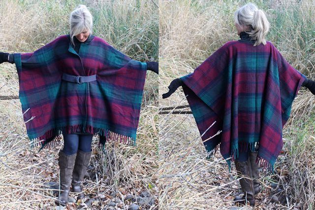 DIY clothes life hacks 15 DIY ideas #1 A Pancho From A Wool Blanket