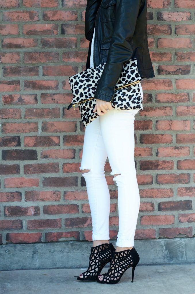 DIY clothes life hacks 15 DIY ideas #14 Diy Leopard Fold Over Clutch