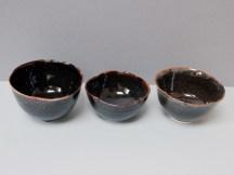 Série de trois bols 'nuit étoilée'